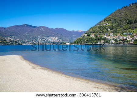 View of Lake Como in a Summer Day