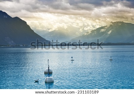View of Lake Geneva , Lausanne, Switzerland
