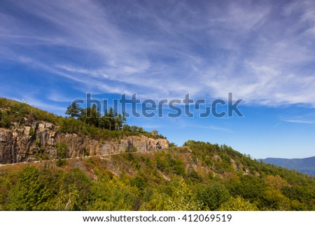 view of Lake George - stock photo
