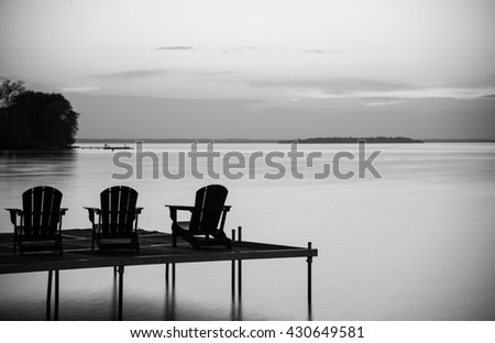 VIEW OF LAKE IN MONOCHROME