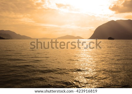 View of Lake Iseo - Italy