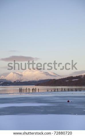 View of lake loch Lomond, Scotland, UK. - stock photo