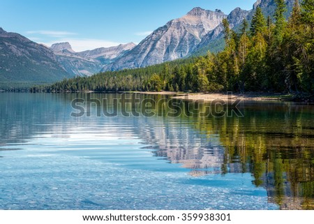 View of Lake McDonald - stock photo
