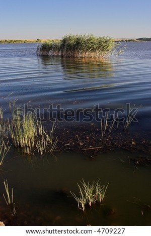 View of lake of Durankulak,Bulgaria - stock photo