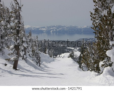 View of Lake Tahoe from Mt. Rose - stock photo