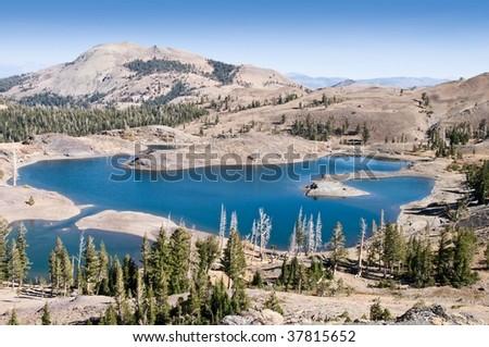 View of lakes in Sierra Mountains, California - stock photo