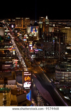 View of Las Vegas Strip at night
