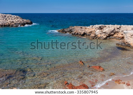 View of Limnionas beach,Kos Island,Greece - stock photo
