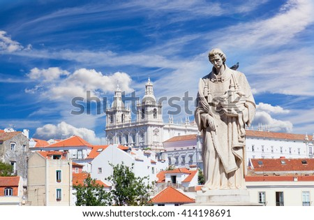 View of Lisbon, Portugal - stock photo
