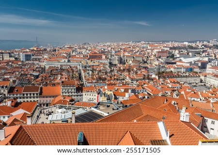 View of Lisbon. Portugal. Europe - stock photo