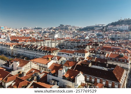 View of Lisbon. Portugal. Europe