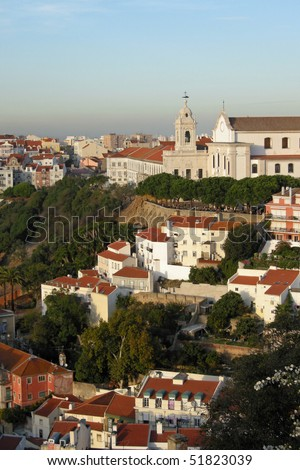 View of Lisbon, Portugal  From the Castelo de Sao Jorge