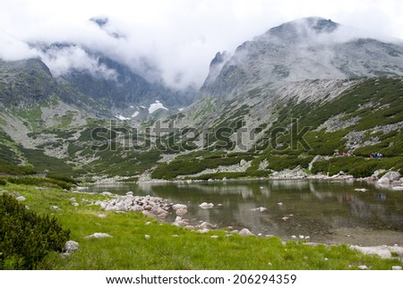 View of Litworowy lake in High Tatra Mountains - Slovakia, Poland