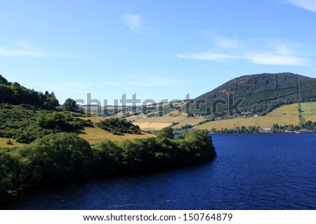 View of Loch Ness in the Scottish Highlands, Scotland   - stock photo
