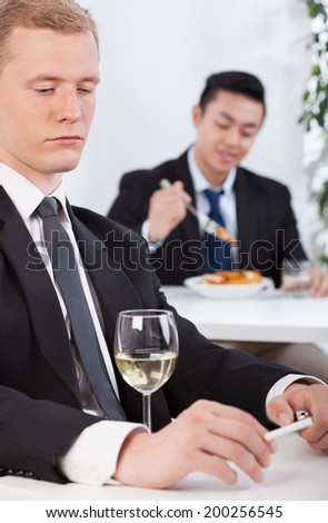 View of lunch time in a company