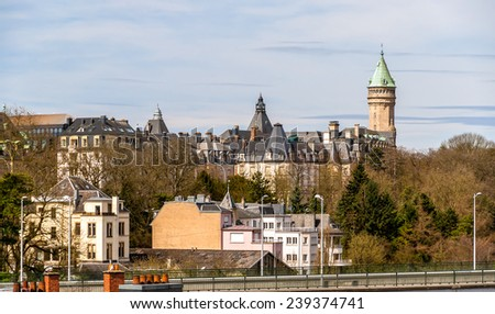 View of Luxembourg city historic center - stock photo