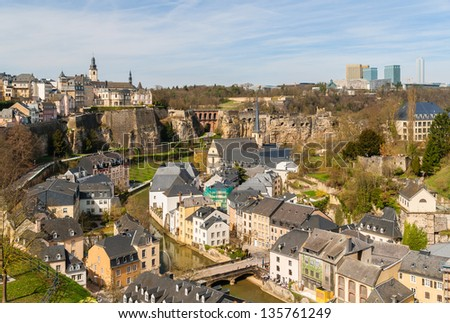 View of Luxembourg historic center - stock photo