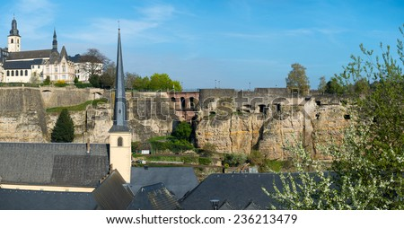 View of Luxembourg historical city center - stock photo