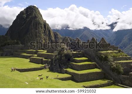 View of Machu Picchu, Peru - stock photo