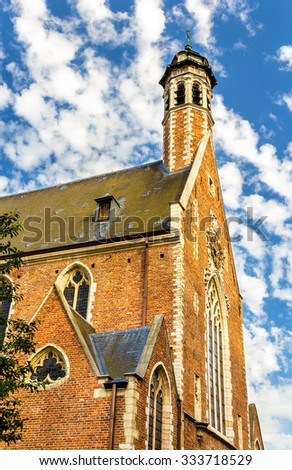View of Madeleine chapel in Brussels - Belgium - stock photo