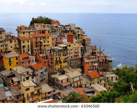 View of Manarola, Cinque Terre, Italy - stock photo