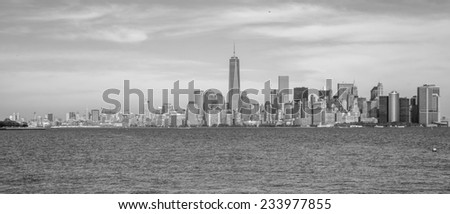 View of Manhattan from the Statue of Liberty.