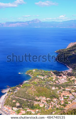 view of Maratea. Basilicata Italy