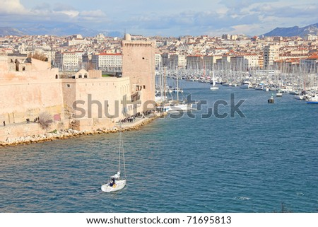 View of Marseille, France - stock photo