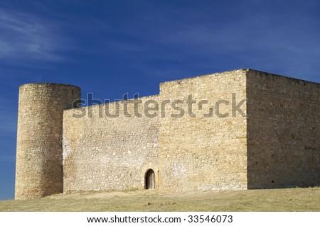 View of Medinaceli castle in Spain - stock photo