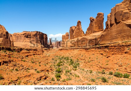 View of Mesa at Arches National Park