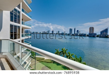 View of Miami Beach from an Oceanfront balcony
