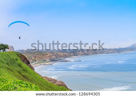 View of Miraflores Park, Lima - Peru - stock photo