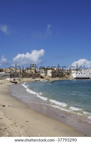 view of Mirbat, Oman - stock photo