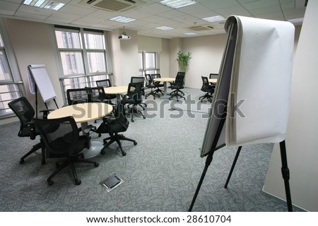 view of modern Meeting room interior