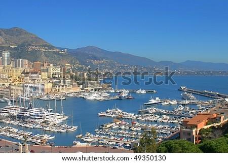 View of Monaco - stock photo