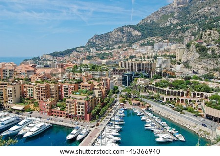View of Monaco, Monte Carlo - stock photo