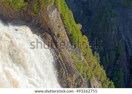 View of Montmorency Falls near Old Quebec City, Quebec, Canada
