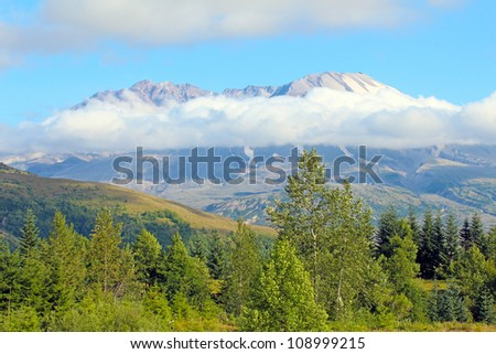 view of mount st helens - stock photo