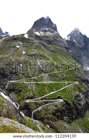 View of mountain road - stock photo