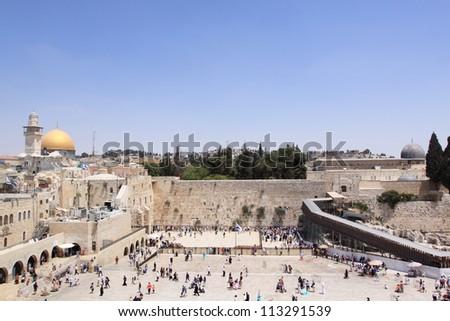 view of Mt. Olives Jerusalem, Israel - stock photo