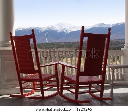 View of Mt. Washington - stock photo