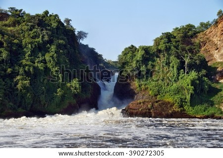 View of Murchison Falls on the Victoria Nile, Uganda