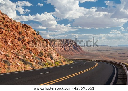 View of Navajo and Hopi Nation Reservations in Arizona, USA - stock photo