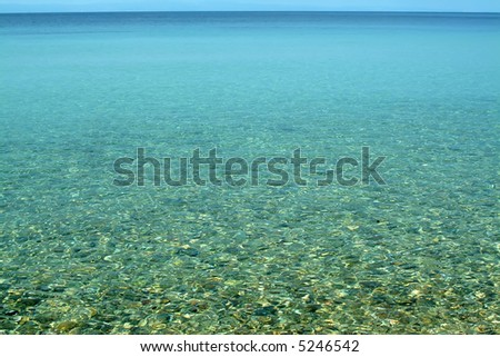 View of nice blue sea surface - stock photo