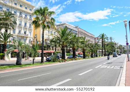 View of Nice city, France - stock photo