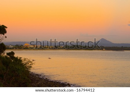 View of Noosa Township, Sunshine Coast, Queensland, Australia - stock photo