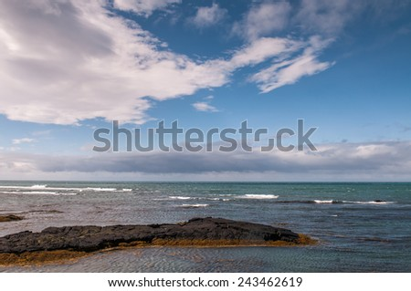 View of north Atlantic from an icelandic shore