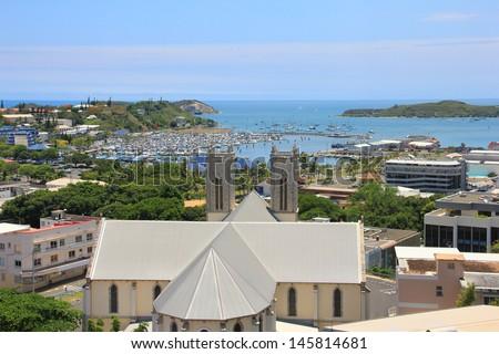 View of Noumea, New Caledonia - stock photo
