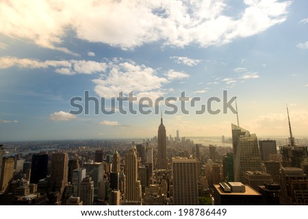View of NYC in the Summer - stock photo