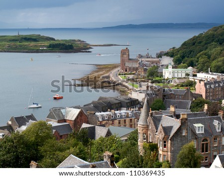 View of Oban, Scotland - stock photo